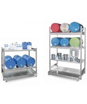 Fass- und Abfüllregale für 60-Liter Fässer