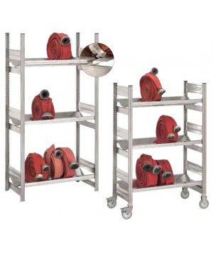 Feuerwehrregale / Schlauchregale, verfahrbar